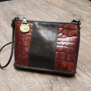 Brahmin Vintage Croc Embossed Crossbody Handbag